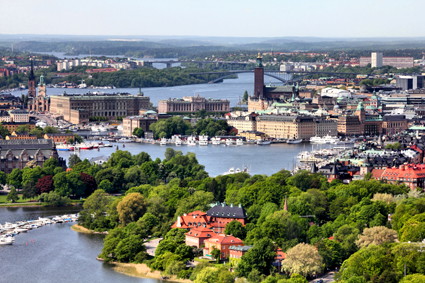 Stockholm, spreading across 14 islands, is now a popular cruise port